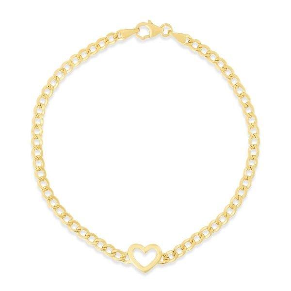 yellow gold heart bracelet