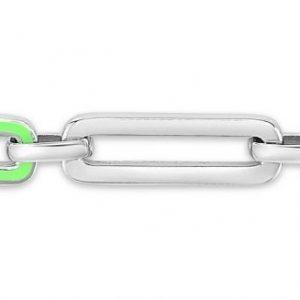Neon Paperclip Bracelet