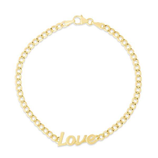 yellow gold love bracelet