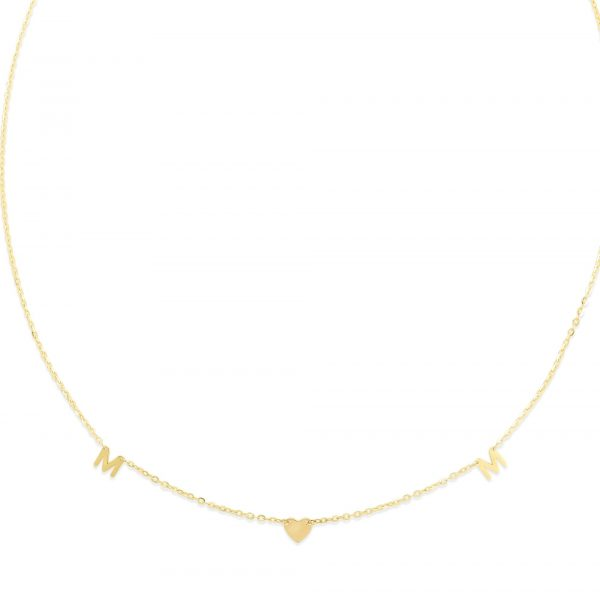 yellow gold i love my mom necklace