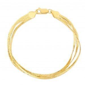 Triple Threat Herringbone Bracelet