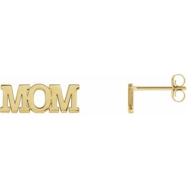 Golden Name Plate Earrings