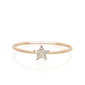 Diamond Mini Star Stack Ring