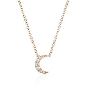 Diamond Moon Choker Necklace