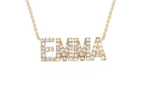 Diamond Custom Name Necklace