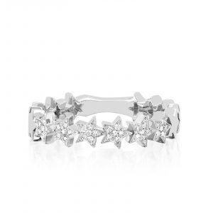 Diamond Multi Star Ring