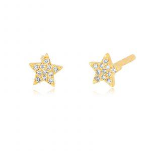 Baby Diamond Star Stud Earrings