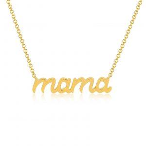 Script Gold Mama Necklace