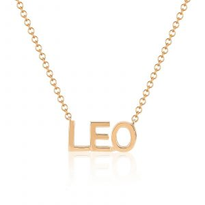 Gold Custom Initial Necklace