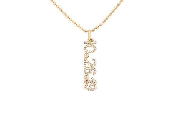 Diamond Custom Date Charm Necklace
