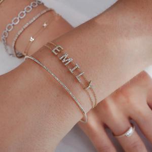 Diamond Custom Name Bracelet