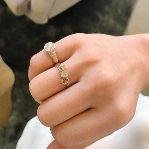 Mini Heart Stack Ring